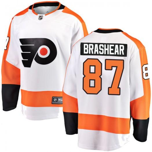 Donald Brashear Philadelphia Flyers Youth Fanatics Branded White Breakaway Away Jersey