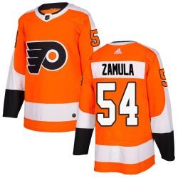 Egor Zamula Philadelphia Flyers Men's Adidas Authentic Orange ized Home Jersey
