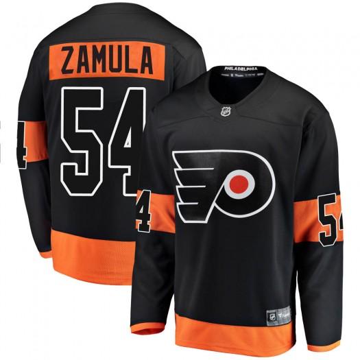 Egor Zamula Philadelphia Flyers Men's Fanatics Branded Black ized Breakaway Alternate Jersey