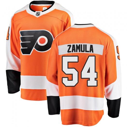 Egor Zamula Philadelphia Flyers Men's Fanatics Branded Orange ized Breakaway Home Jersey