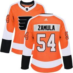 Egor Zamula Philadelphia Flyers Women's Adidas Authentic Orange ized Home Jersey