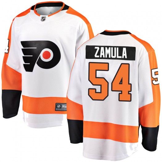Egor Zamula Philadelphia Flyers Youth Fanatics Branded White ized Breakaway Away Jersey