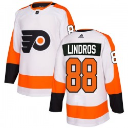 Eric Lindros Philadelphia Flyers Men's Adidas Authentic White Jersey
