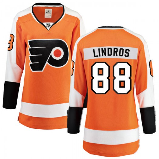 Eric Lindros Philadelphia Flyers Women's Fanatics Branded Orange Home Breakaway Jersey