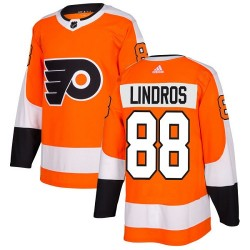 Eric Lindros Philadelphia Flyers Youth Adidas Authentic Orange Home Jersey