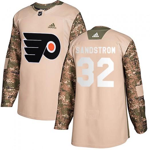 Felix Sandstrom Philadelphia Flyers Men's Adidas Authentic Camo Veterans Day Practice Jersey
