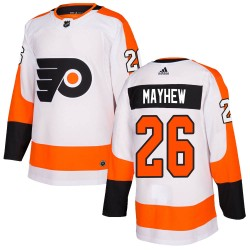 Gerald Mayhew Philadelphia Flyers Men's Adidas Authentic White Jersey