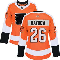 Gerald Mayhew Philadelphia Flyers Women's Adidas Authentic Orange Home Jersey