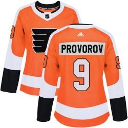 Ivan Provorov Philadelphia Flyers Women's Adidas Authentic Orange Home Jersey