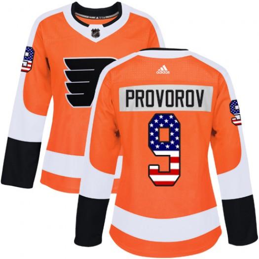 Ivan Provorov Philadelphia Flyers Women's Adidas Authentic Orange USA Flag Fashion Jersey