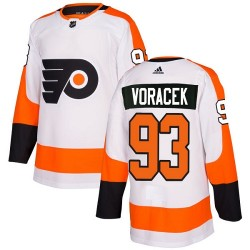 Jakub Voracek Philadelphia Flyers Women's Adidas Authentic White Away Jersey