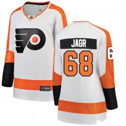 Jaromir Jagr Philadelphia Flyers Women's Fanatics Branded White Breakaway Away Jersey
