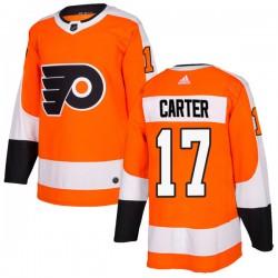 Jeff Carter Philadelphia Flyers Men's Adidas Authentic Orange Home Jersey