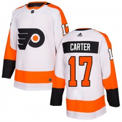 Jeff Carter Philadelphia Flyers Youth Adidas Authentic White Jersey