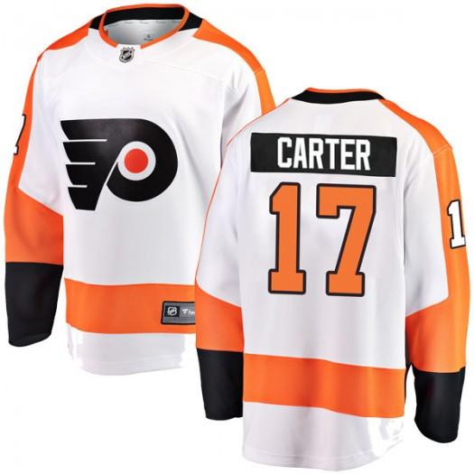 Jeff Carter Philadelphia Flyers Youth Fanatics Branded White Breakaway Away Jersey