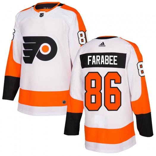 Joel Farabee Philadelphia Flyers Men's Adidas Authentic White Jersey
