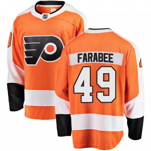 Joel Farabee Philadelphia Flyers Men's Fanatics Branded Orange Breakaway Home Jersey
