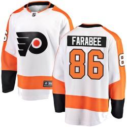 Joel Farabee Philadelphia Flyers Men's Fanatics Branded White Breakaway Away Jersey