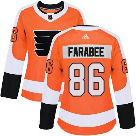 Joel Farabee Philadelphia Flyers Women's Adidas Authentic Orange Home Jersey