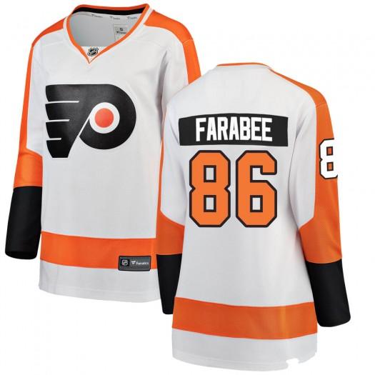 Joel Farabee Philadelphia Flyers Women's Fanatics Branded White Breakaway Away Jersey