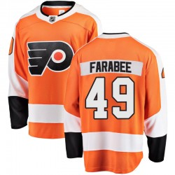 Joel Farabee Philadelphia Flyers Youth Fanatics Branded Orange Breakaway Home Jersey