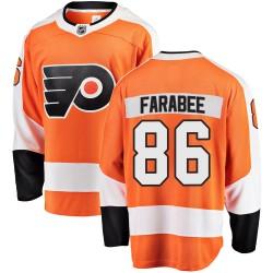 Joel Farabee Philadelphia Flyers Youth Fanatics Branded Orange Breakaway Home Jersey