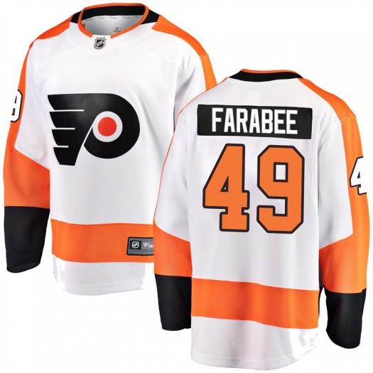 Joel Farabee Philadelphia Flyers Youth Fanatics Branded White Breakaway Away Jersey
