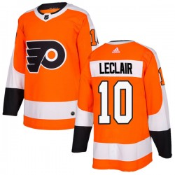 John Leclair Philadelphia Flyers Men's Adidas Authentic Orange Home Jersey