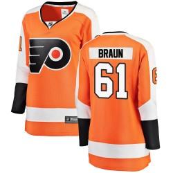 Justin Braun Philadelphia Flyers Women's Fanatics Branded Orange Breakaway Home Jersey