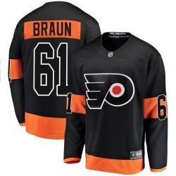 Justin Braun Philadelphia Flyers Youth Fanatics Branded Black Breakaway Alternate Jersey