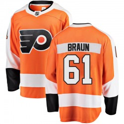 Justin Braun Philadelphia Flyers Youth Fanatics Branded Orange Breakaway Home Jersey