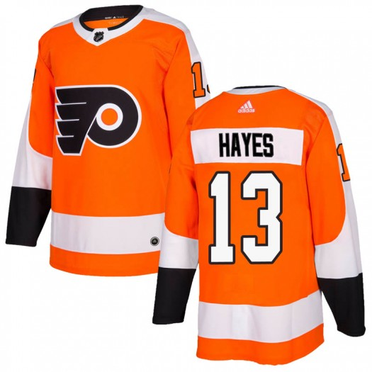Kevin Hayes Philadelphia Flyers Men's Adidas Authentic Orange Home Jersey