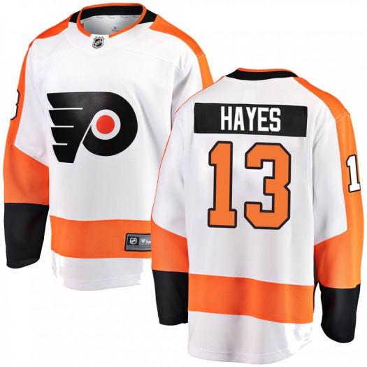 Kevin Hayes Philadelphia Flyers Men's Fanatics Branded White Breakaway Away Jersey