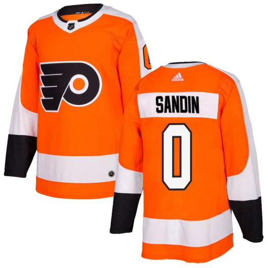 Linus Sandin Philadelphia Flyers Youth Adidas Authentic Orange Home Jersey