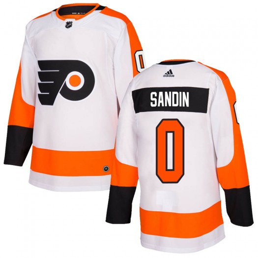 Linus Sandin Philadelphia Flyers Youth Adidas Authentic White Jersey
