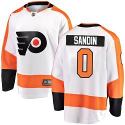 Linus Sandin Philadelphia Flyers Youth Fanatics Branded White Breakaway Away Jersey