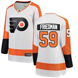 Mark Friedman Philadelphia Flyers Women's Fanatics Branded White Breakaway Away Jersey
