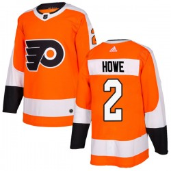 Mark Howe Philadelphia Flyers Men's Adidas Authentic Orange Home Jersey