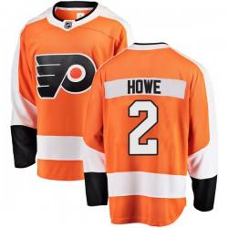 Mark Howe Philadelphia Flyers Men's Fanatics Branded Orange Breakaway Home Jersey
