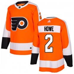 Mark Howe Philadelphia Flyers Youth Adidas Authentic Orange Home Jersey