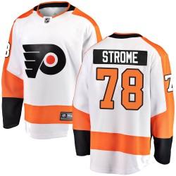 Matthew Strome Philadelphia Flyers Men's Fanatics Branded White Breakaway Away Jersey