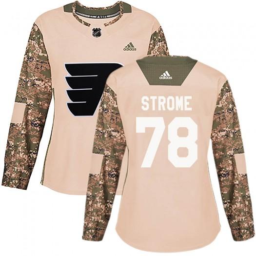 Matthew Strome Philadelphia Flyers Women's Adidas Authentic Camo Veterans Day Practice Jersey
