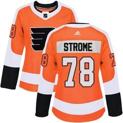 Matthew Strome Philadelphia Flyers Women's Adidas Authentic Orange Home Jersey