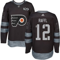 Michael Raffl Philadelphia Flyers Men's Adidas Authentic Black 1917-2017 100th Anniversary Jersey
