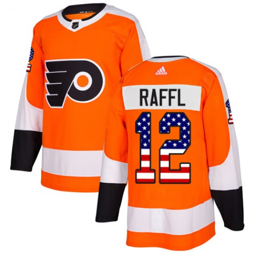 Michael Raffl Philadelphia Flyers Men's Adidas Authentic Orange USA Flag Fashion Jersey