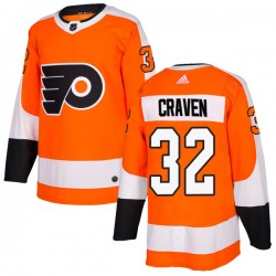Murray Craven Philadelphia Flyers Men's Adidas Authentic Orange Home Jersey