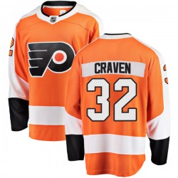 Murray Craven Philadelphia Flyers Men's Fanatics Branded Orange Breakaway Home Jersey
