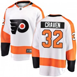 Murray Craven Philadelphia Flyers Men's Fanatics Branded White Breakaway Away Jersey