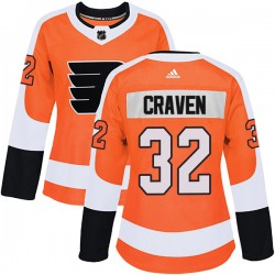 Murray Craven Philadelphia Flyers Women's Adidas Authentic Orange Home Jersey