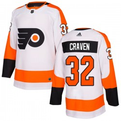 Murray Craven Philadelphia Flyers Youth Adidas Authentic White Jersey